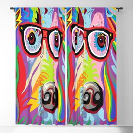 Smart Retriever Hipster with Glasses Blackout Curtain