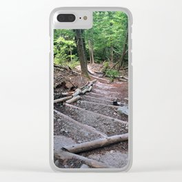 Forest Staircase Clear iPhone Case