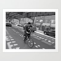 cycling Art Prints featuring Cycling by Sebastiano Carbone
