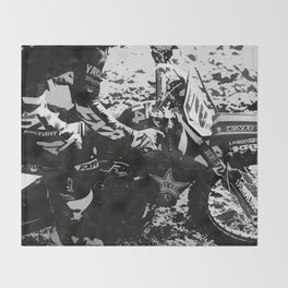 Dirt Bike Star - Motocross Racing Throw Blanket