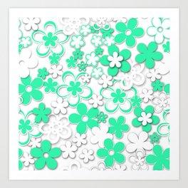 Paper flowers 2 Art Print