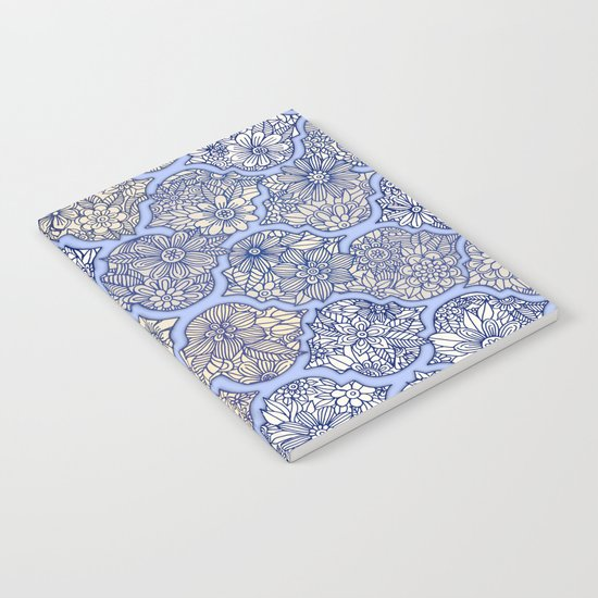 Moroccan Floral Lattice Arrangement - Purple Notebook