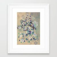 crystals Framed Art Prints featuring crystals by Sil-la Lopez