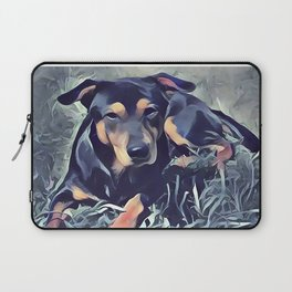 Black and Tan Coonhound Puppy Laptop Sleeve