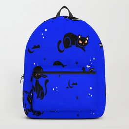 Cats Halloween Gift Witch Cats Gift Backpack