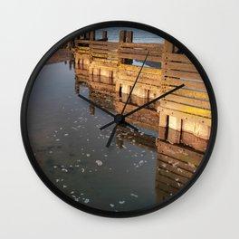Norfolk groyne Wall Clock