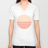 peach V-neck T-shirts featuring Peach by Lyle Hatch