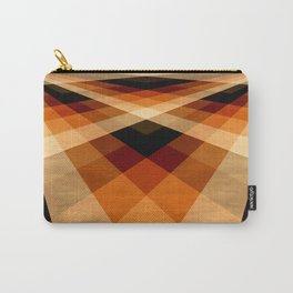 Autumn Groovy Checkerboard Carry-All Pouch