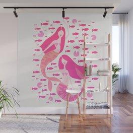 Koi Mermaids – Pink Palette Wall Mural