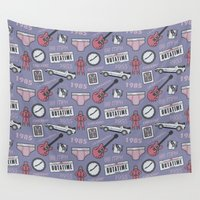 mcfly Wall Tapestries featuring Back To The Future Pattern by M. Gulin