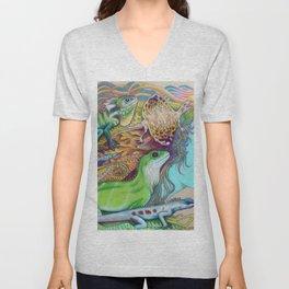 A Tangle Of Lizards, Lizard Art Unisex V-Neck