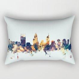 Perth Australia Skyline Rectangular Pillow
