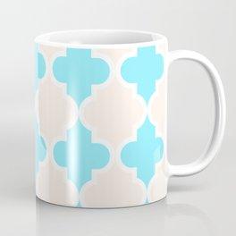 Quatrefoil - cream and arctic Coffee Mug