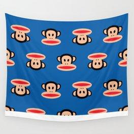 Julius Monkey Pattern by Paul Frank - Dark Blue Wall Tapestry