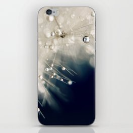dandelion evening blue iPhone Skin