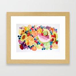 Cheerful Fruit Salad Framed Art Print
