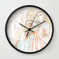 the hobbit Wall Clocks featuring Thranduil_The Hobbit by JoySlash