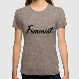 Feminist (on white) T-shirt