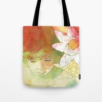 child Tote Bags featuring child by Sabine Israel