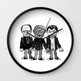 Classic Monsters Wall Clock