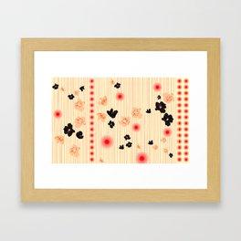 spotted blooms Framed Art Print