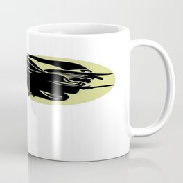 Flying Witch On Broomstick With A Big Moon Coffee Mug