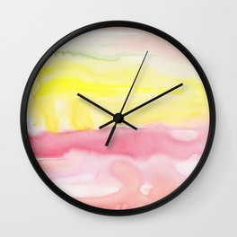 22   | Abstract Minimal Watercolor Painting | 191223 Wall Clock
