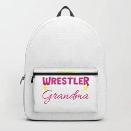 Grandma Wrestling Lover Wrestler Supporter Gift  Backpack