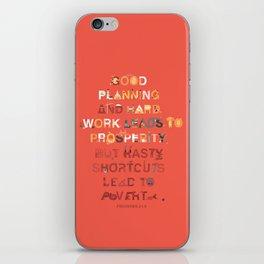 Good planning iPhone Skin