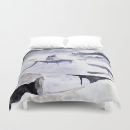 Isolated Volcano Duvet Cover