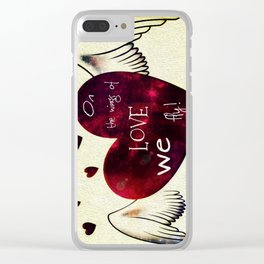 On the wings of LOVE Clear iPhone Case