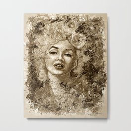 blonde bombshell - sepia version Metal Print