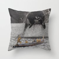 orca Throw Pillows featuring Orca by Lerson