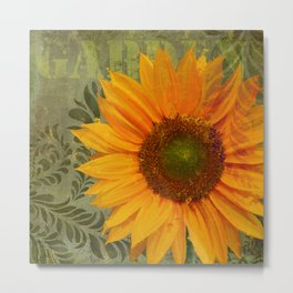 Sunflower Garden II floral art Metal Print