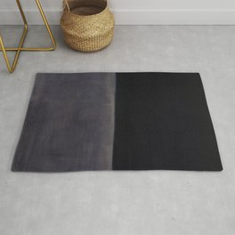 Untitled (Black on Grey) by Mark Rothko HD Rug