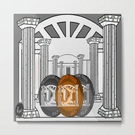 Necropolis Coins Palladium, Platinum and Copper Metal Print