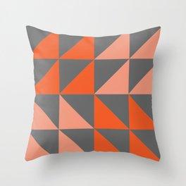 Orange Angles Throw Pillow