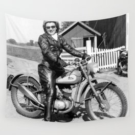 1952 Motorcycle Momma Wall Tapestry