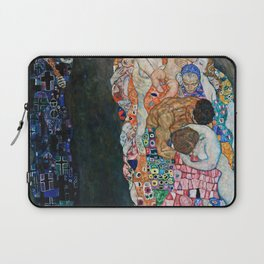 Gustav Klimt - Death And Life Laptop Sleeve