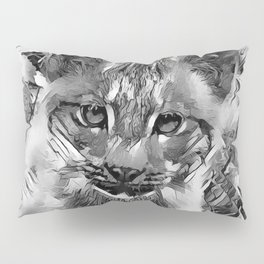AnimalArtBW_Cougar_20170601_by_JAMColorsSpecial Pillow Sham