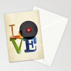 Love is Music Stationery Cards
