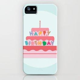 Happy Birthday Cake iPhone Case
