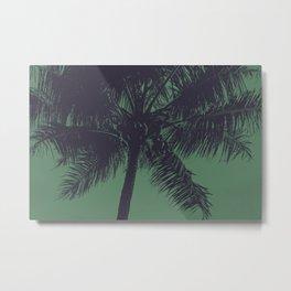 Palm Tree Green Navy Summer Beach Metal Print