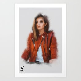 Women in Red Art Print