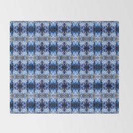 snowflake in blue 8 pattern Throw Blanket