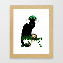 Le Chat Noir - St Patrick's Day Framed Art Print