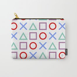 Gamer Pattern Color on White Carry-All Pouch