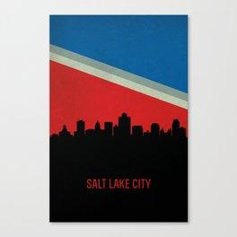 Salt Lake City Skyline Canvas Print