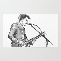 alex turner Area & Throw Rugs featuring alex turner [4] by roanne Q