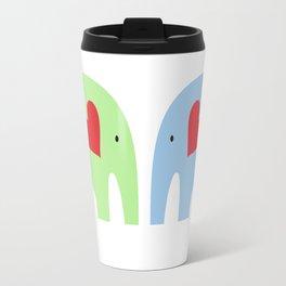 Rainbow Elephants Travel Mug